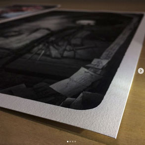 Printed works on Canson Infinity Edition Etching Rag