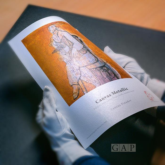 Hahnemühle Canvas Metallic ©GraficArtPrints, impressió fine art giclée