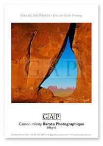 Giclée printed sample on Canson Infinity Baryta Photographique by GraficArtPrints © Jesús Coll