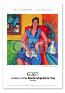Giclée printed sample on Canson Infinity Aquarelle Rag by GraficArtPrints. © Guillermo Martí Ceballos