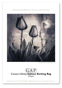 Giclée printed sample on Canson Infinity Edition Etching Rag by GraficArtPrints © Queralt Sunyer
