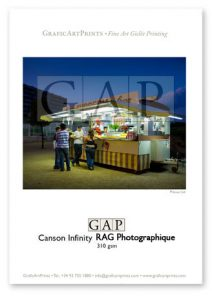Giclée printed sample on Canson Infinity RAG Photographique 310gsm by GraficArtPrints. © Jesús Coll