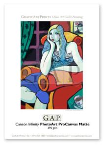 Muestra papel Canson Infinity PhotoArt ProCanvas Matte impresa en giclée por GraficArtPrints © Guillermo Martí Ceballos