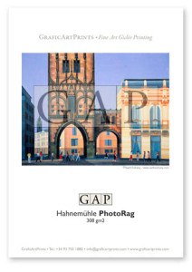Giclée printed sample on Hahnemühle Photo Rag by GraficArtPrints © Santi Estrany