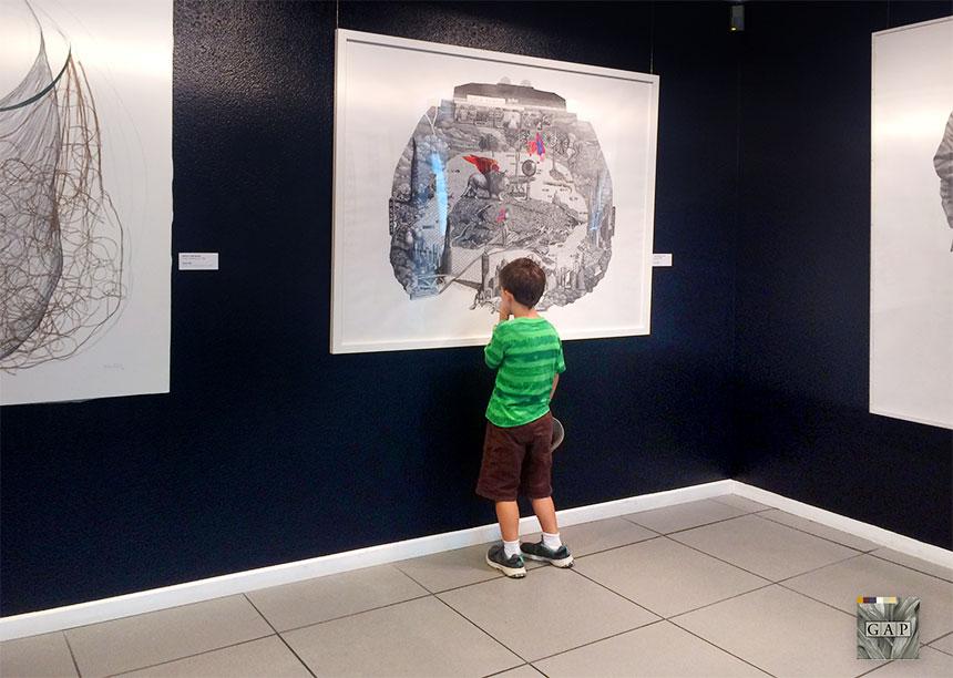 """Premio Bienal de Pintura Torres-García 2017. """"Isola Utopía"""" de Cosmonauta Insectotropic"""